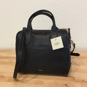 NWT Fossil Leather Satchel